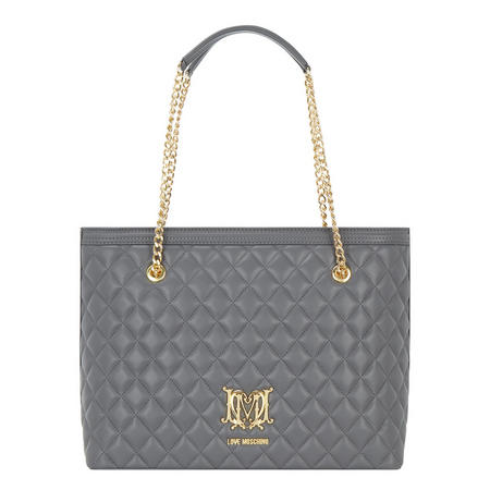 Quilted Shopper Bag Grey