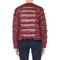 Ruffle Puffa Jacket Red