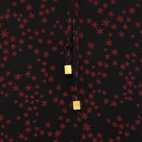 Star Print Blouse Black