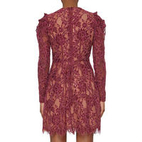 Floral Lace Dress Red