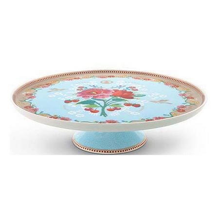 Cake Tray Rose Blue