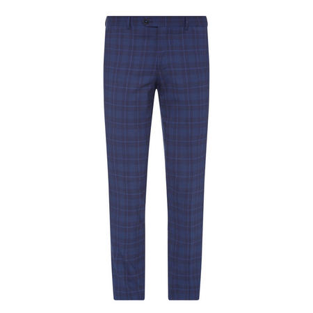 Lazio Check Slim Fit Suit Trousers Navy