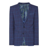 Lazio Check Suit Jacket Navy