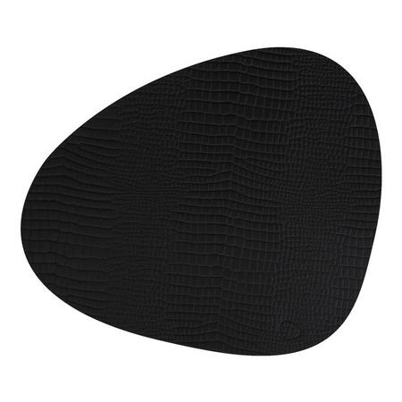Table Mat Curve 37X44Cm Croco Black