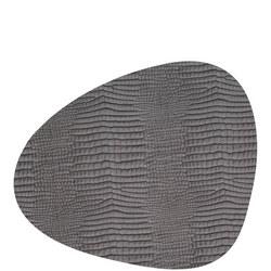 Table Mat Curve 37X44Cm Croco Silver-Black