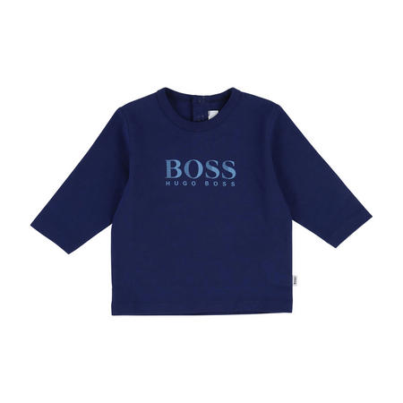 Logo Long Sleeved T-Shirt Blue