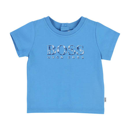 Flecked Logo T-Shirt Blue