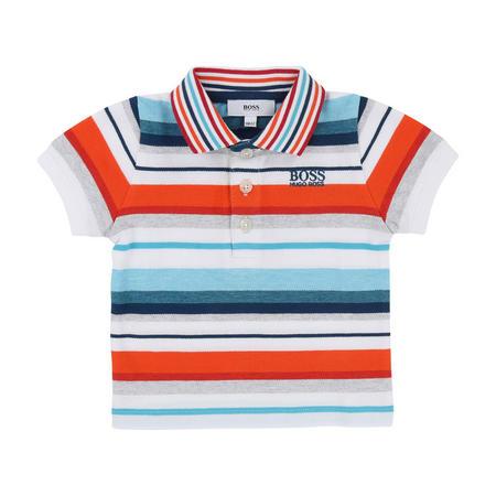 Striped Polo Shirt Orange