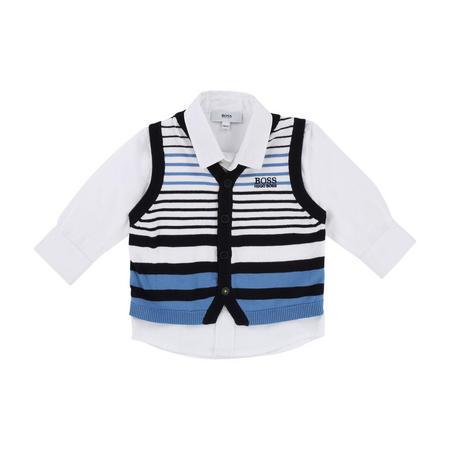 Mock Vest And Shirt White