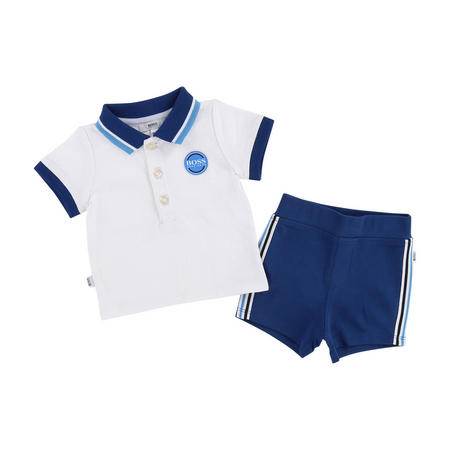 Polo Shirt And Shorts Set White