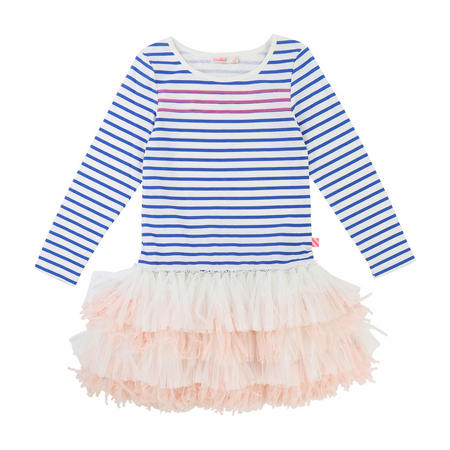 Striped Tutu Dress Blue