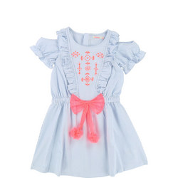 Ruffled Stripe Dress Blue