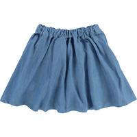Embellished Denim Skirt Blue