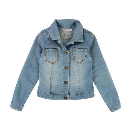 Embellished Denim Jacket Blue
