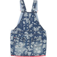 Printed Pinafore Dress Blue