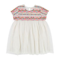 Embroidered Dress Ivory