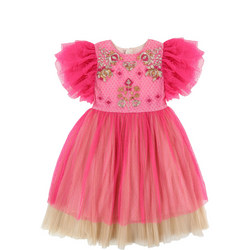 Embellished Tulle Dress Pink