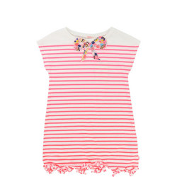 Striped Bow Dress Pink