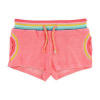 Rainbow Fleece Shorts Pink