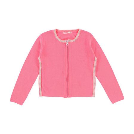 Zip-Up Cardigan Pink