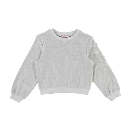 Glitter Sweatshirt Silver-Tone