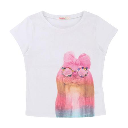 Embellished Dog T-Shirt White