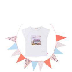 Caravan Print T-Shirt White