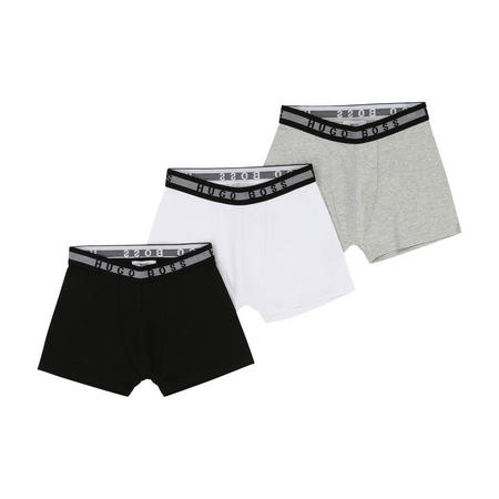 Three Pack Logo Boxers Black