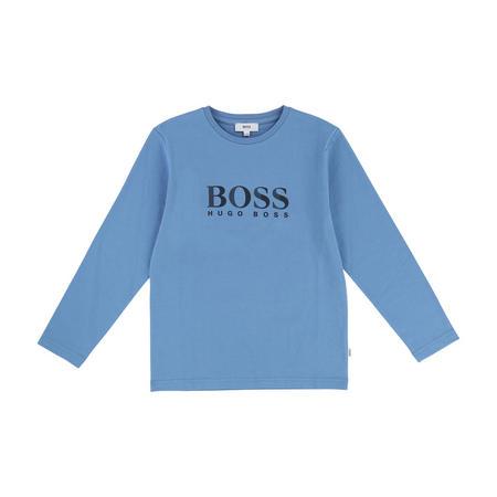 Logo Long Sleeve T-Shirt Blue