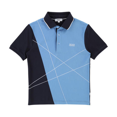 Lines Polo Shirt Blue