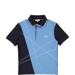 Lines Polo Shirt Blue