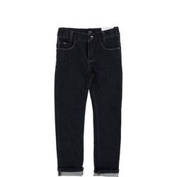 Five Pocket Jeans Dark Wash Blue
