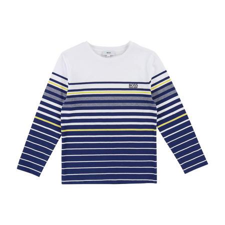 Striped Long Sleeve T-Shirt Navy