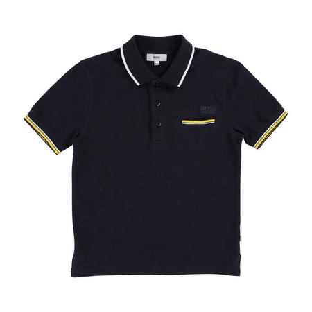 Tipped Polo Shirt Navy