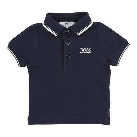 Boys Classic Tipped Polo Shirt Navy