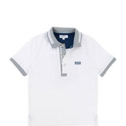 Logo Polo Shirt White