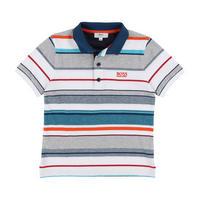 Striped Polo Shirt White