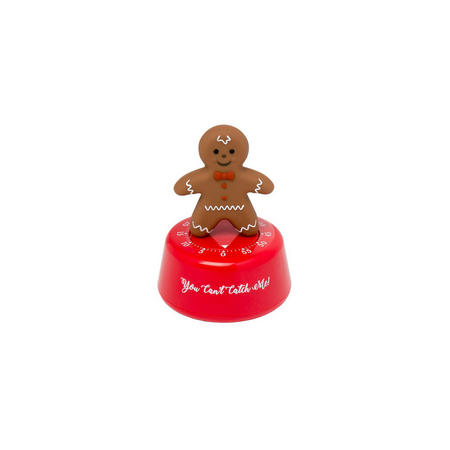 Gingerbread Man Kitchen Timer Brown