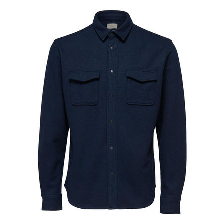 Two Pocket Casual Shirt Blue