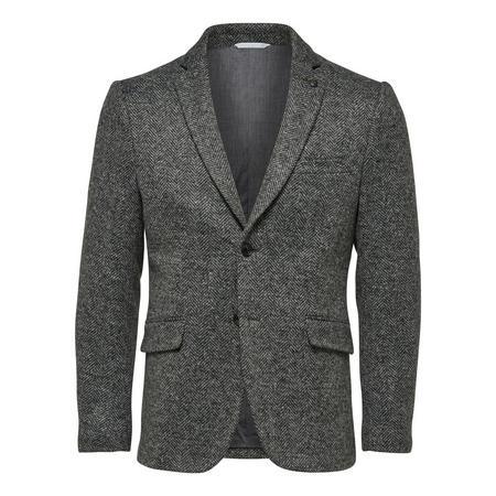 Chevron Weave Blazer Grey