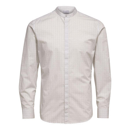 Nee China Collar Formal Shirt White