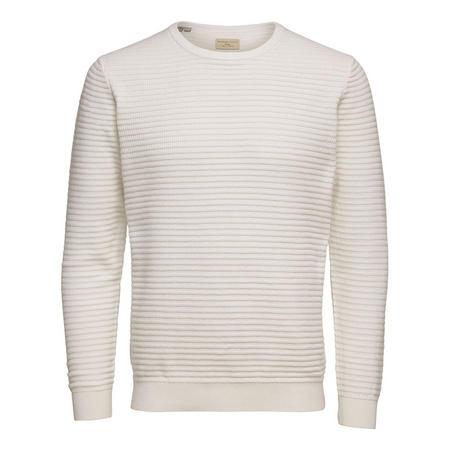 Reed Rib Knit Sweater White