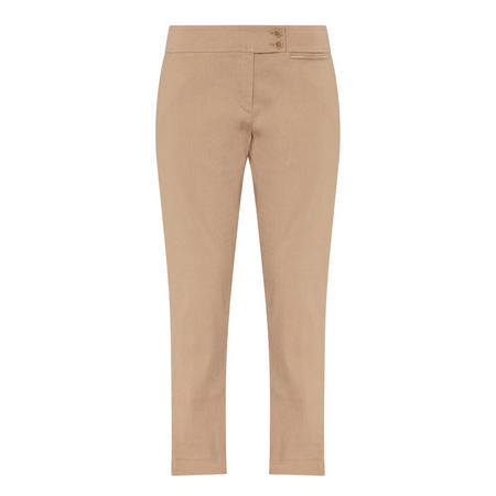 Tapered Trousers Beige