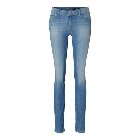 Light Wash Skinny Jeans Blue