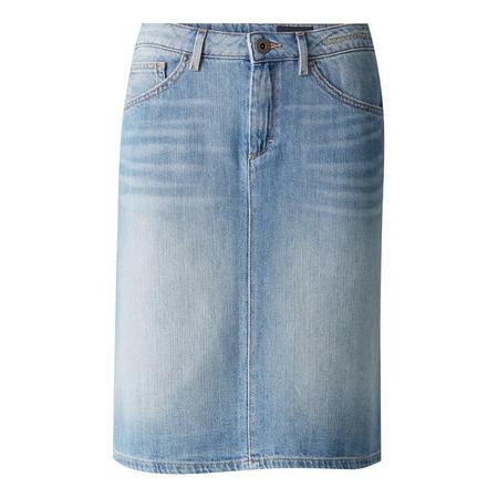 Straight Denim Skirt Blue