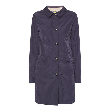 Longline Button Front Coat Navy