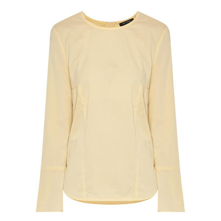 Flared Sleeve Blouse Cream