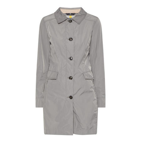 Longline Button Front Coat Green