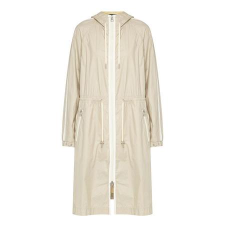 Longline Windbreaker Jacket Grey