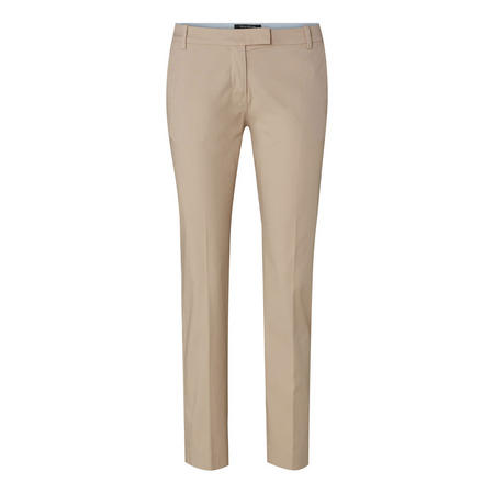 Slim Fit Tailored Trousers Beige
